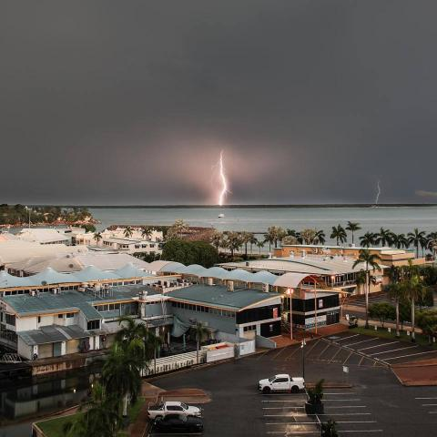 Lighning strike image from ABC Darwin Facebook site